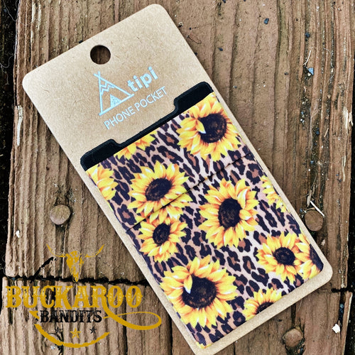 Leopard Sunflower Card Holder