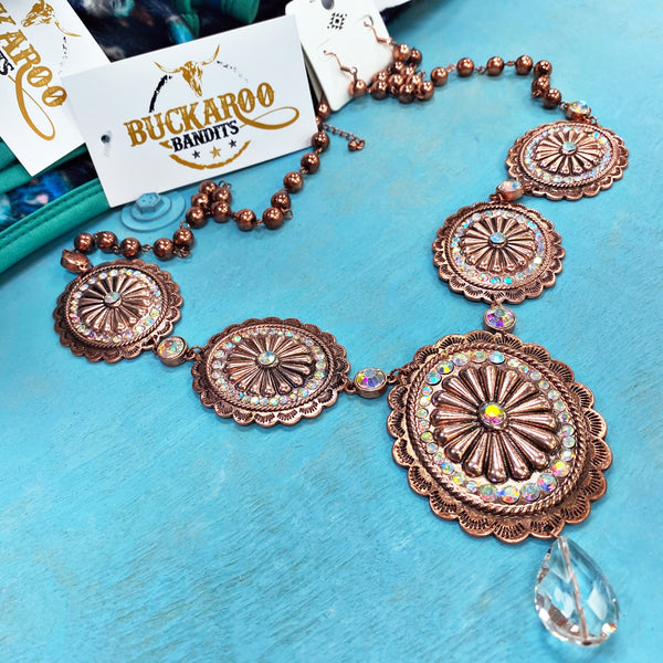 Concho Necklace Set - Copper