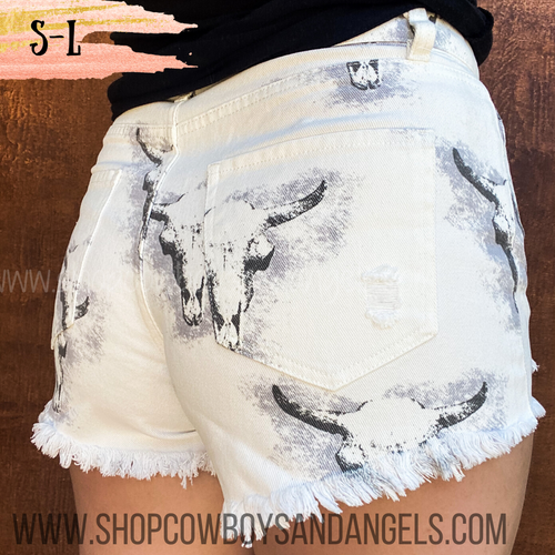 Distressed Bull Shorts