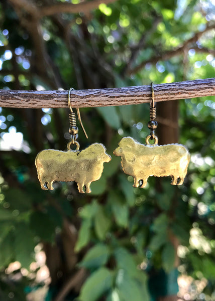 Sheep Fish Hook Earrings
