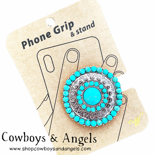 Turquoise Concho Phone Grip