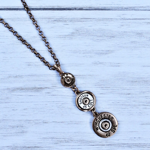 Not Your Bonnie Bullet Necklace - Gold