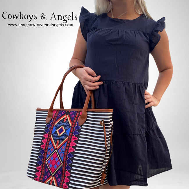 Tribal Handbag 3 Piece Set
