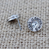Rhinestone Shotgun Shell Bullet Stud Earrings