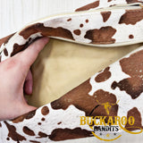 Shimmery Cow Makeup Bag