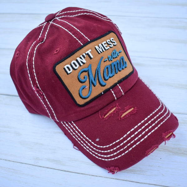 Don't Mess With Mama Vintage Ball Cap