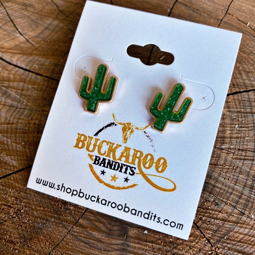 Druzy Cactus Earrings