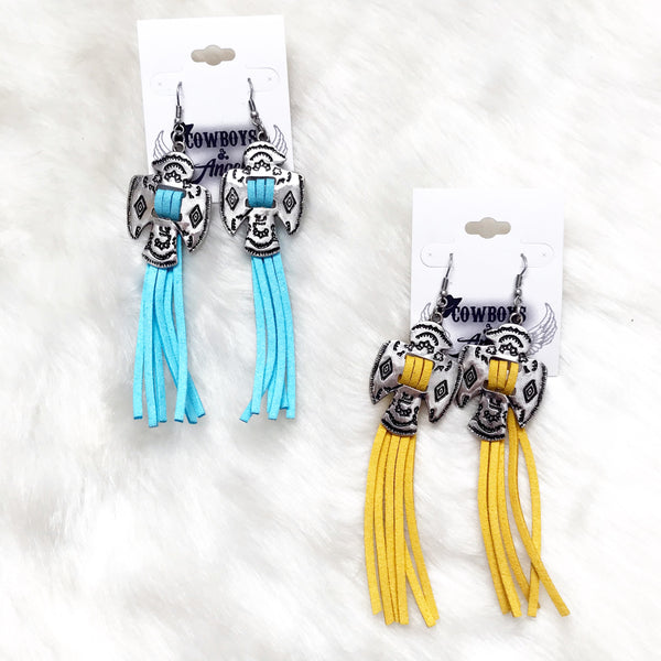 Thunderbird Tassel Earrings