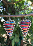 Rhinestone Serape Heart Earrings