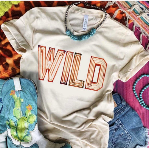 WILD Marquee Letters Tee
