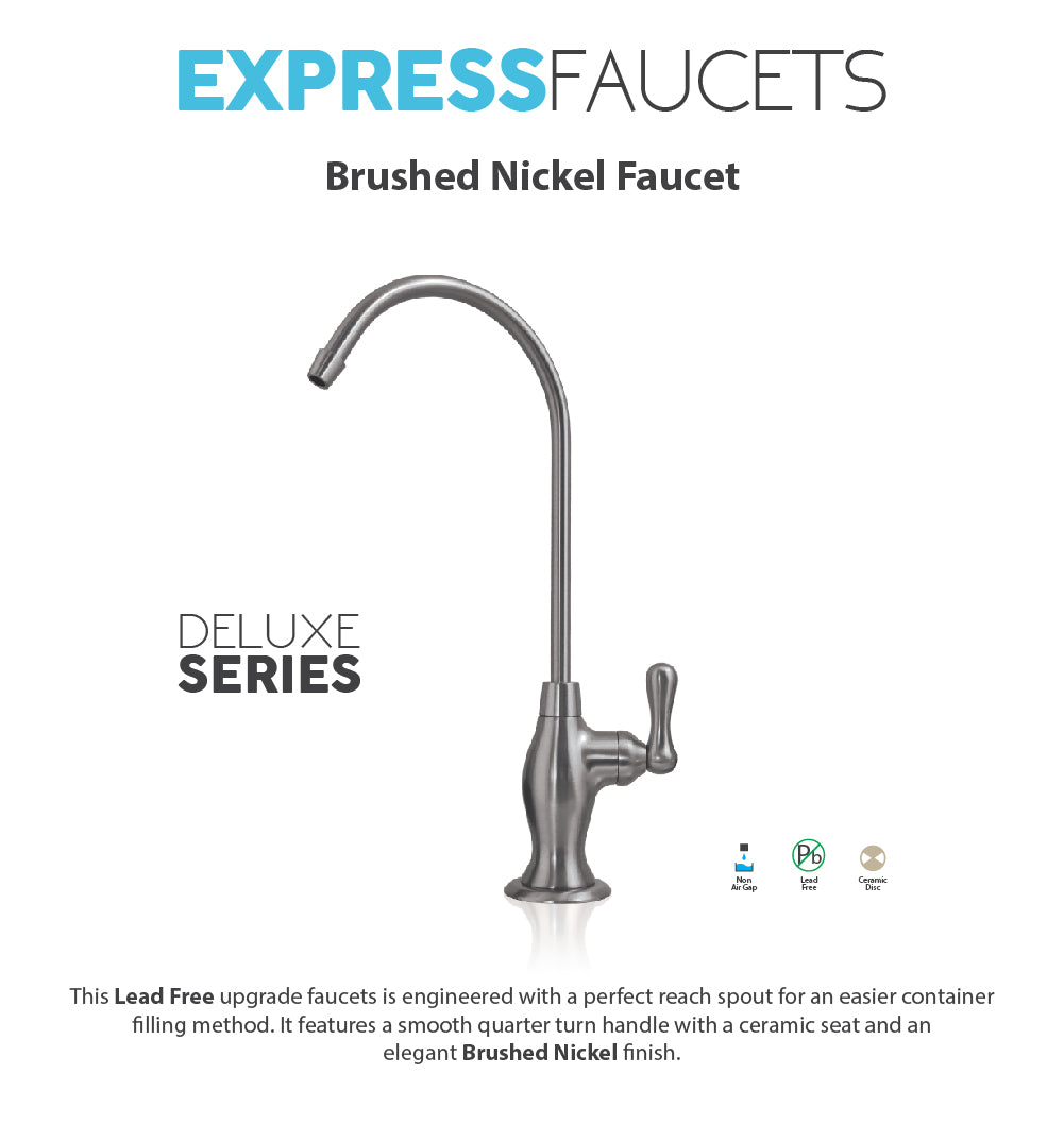 DELUXE Ceramic Disc Designer Faucet Coke Shaped Non-Air Gap Faucet, Br