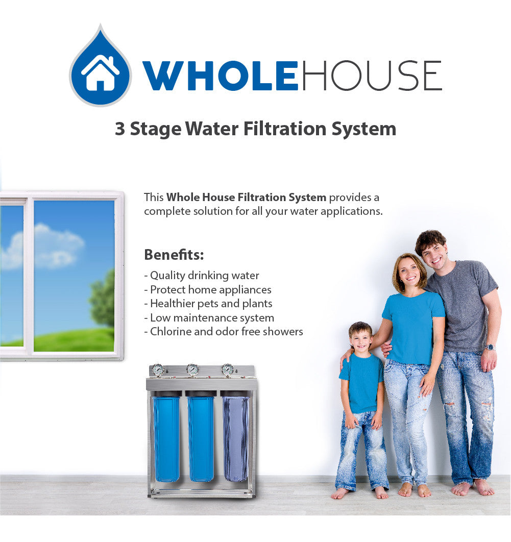 Express Water Whole House 3 Stage Water Filtration System
