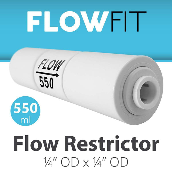 550ml Flow Restrictor For Ro System With Quick Connect Fittings