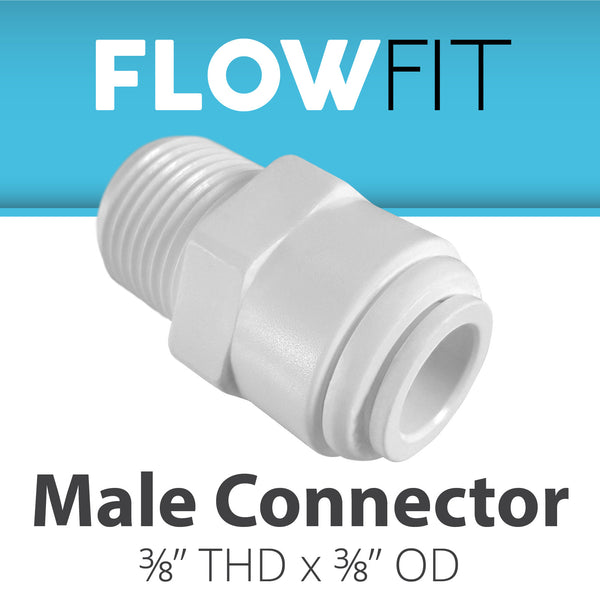"Male Connector 3/8"" x 3/8"""