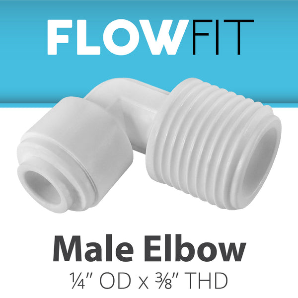 "Male Elbow 1/4"" x 3/8"""
