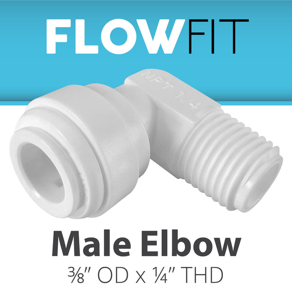 "Male Elbow 3/8"" x 1/4"""