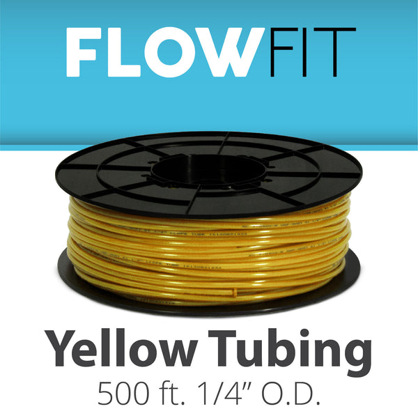 "Yellow 1/4"" (quarter inch) PE Tubing for RO System 500 feet"