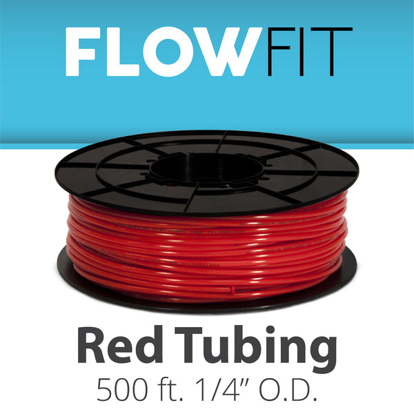 "Red 1/4"" (quarter inch) PE Tubing for RO System 500 feet"
