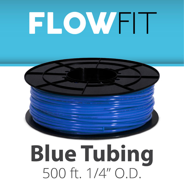 "Blue 1/4"" (quarter inch) PE Tubing for RO System 500 FEET"