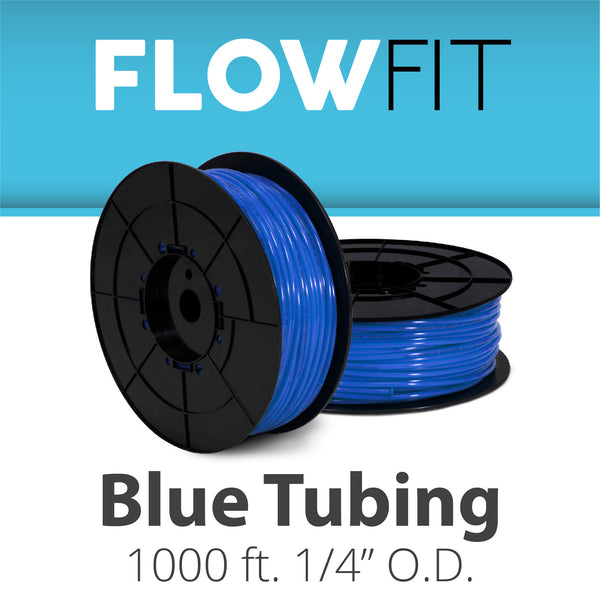 "Blue 1/4"" (quarter inch) PE Tubing for RO System 1000 feet"