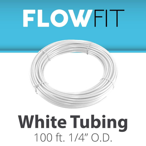 "WHITE 1/4"" (quarter inch) PE Tubing for RO System 100FT"