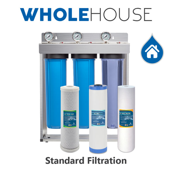 Whole House 3 Stage Water Filtration System WH300SCGS - Express Water Manufacturer of Reverse Osmosis Drinking and UV Water Filter Systems, Parts & Accessories