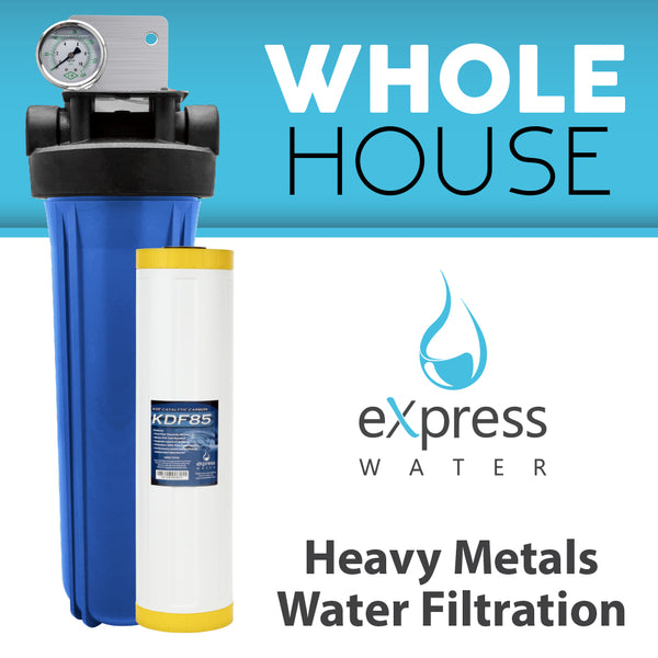 Whole House Water Filter System KDF 1 Stage Filtration - Express Water Manufacturer of Reverse Osmosis Drinking and UV Water Filter Systems, Parts & Accessories