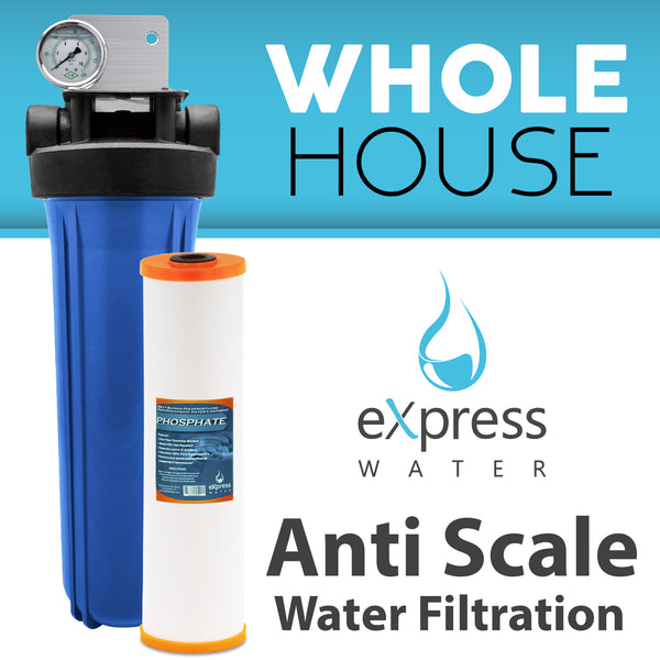 Whole House Water Filter System Phosphate 1 Stage Filtration - Express Water Manufacturer of Reverse Osmosis Drinking and UV Water Filter Systems, Parts & Accessories