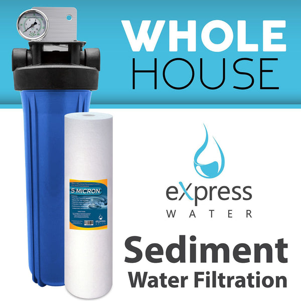 whole house water filter system sediment 1 stage filtration