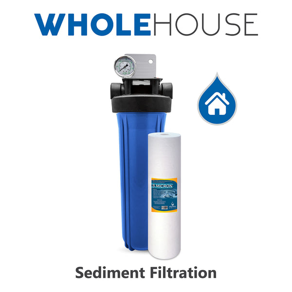 Whole House Water Filter System Sediment 1 Stage Filtration - Express Water Manufacturer of Reverse Osmosis Drinking and UV Water Filter Systems, Parts & Accessories