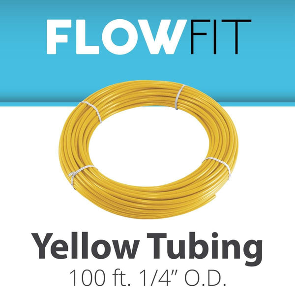 "YELLOW 1/4"" (quarter inch) PE Tubing for RO System 100FT"