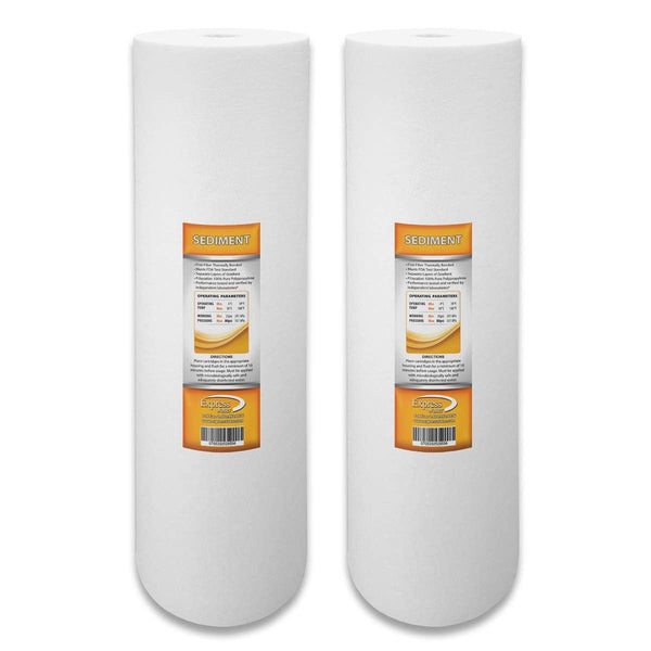 "2 Pack 20"" Big Blue 5 MICRON Whole House Water Filter 4.5"" x 20"" Sediment"