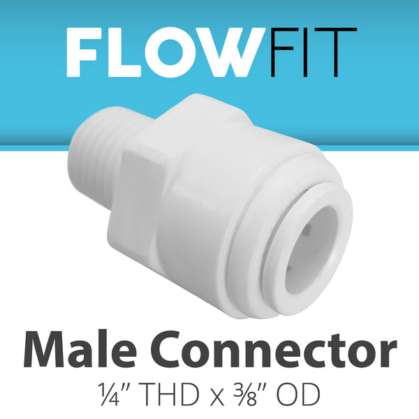 "Male Connector 3/8"" x 1/4"""