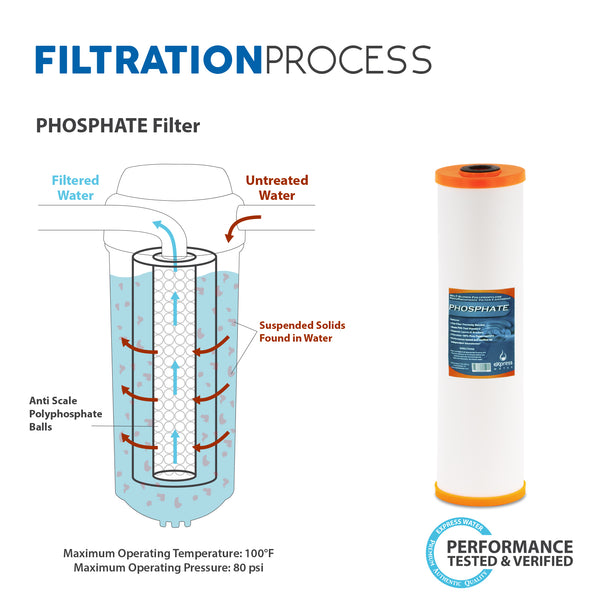 whole house water filter system phosphate 1 stage filtration - Whole House Water Filtration System