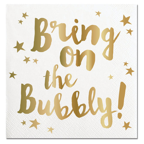 BRING ON THE BUBBLY NAPKINS - Give Lovely
