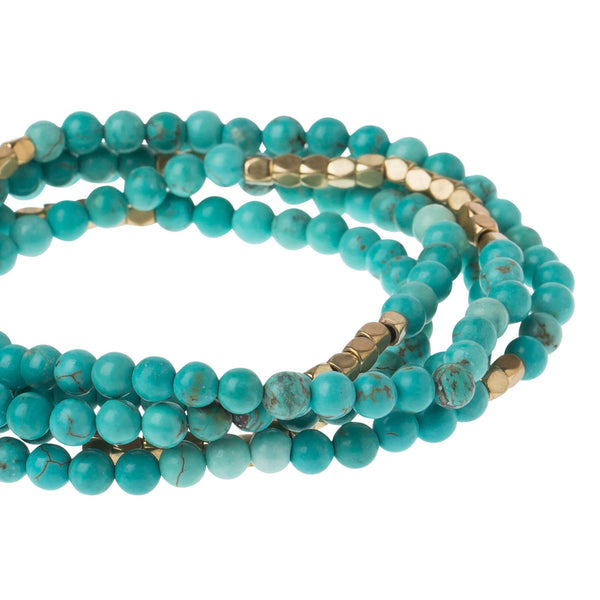 STONE OF THE SKY WRAP - TURQUOISE/GOLD
