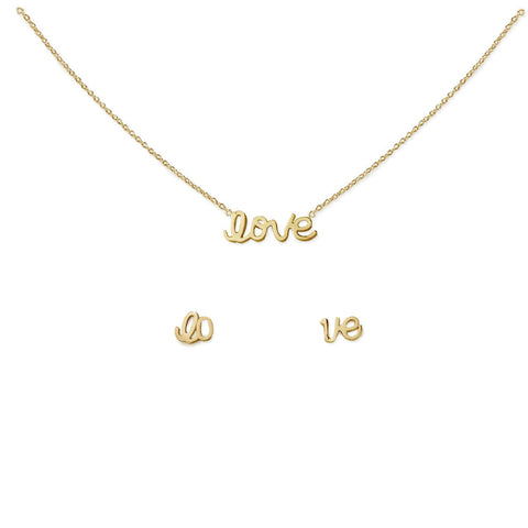 LOVE NECKLACE & EARRING SET