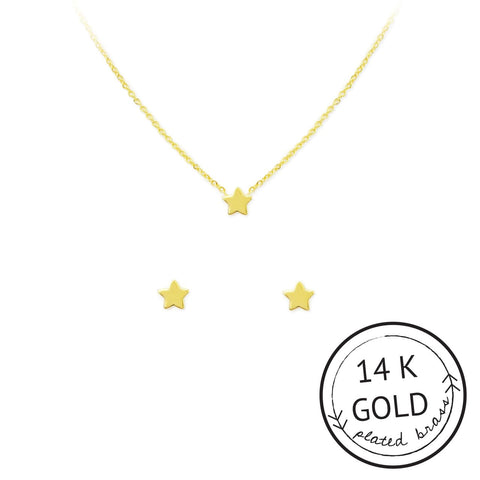 STAR NECKLACE & EARRING SET