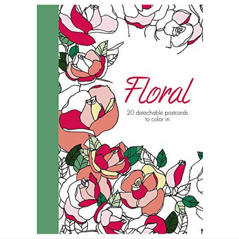 FLORAL COLORING POSTCARDS - Give Lovely