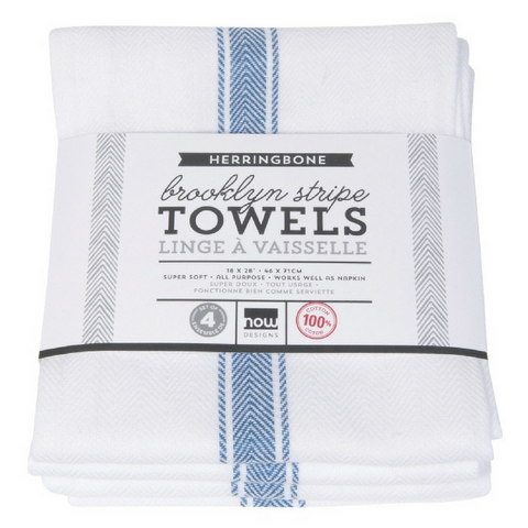 BROOKLYN STRIPE BLUE TOWEL SET