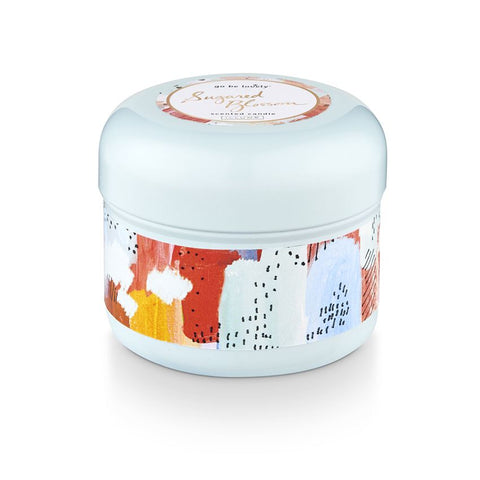 SUGARED BLOSSOM TIN CANDLE