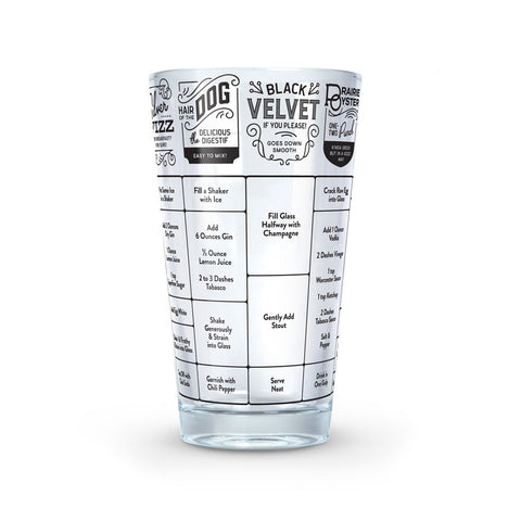 GOOD MEASURE RECIPE GLASS - HANGOVER