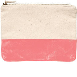 CORAL COLORBLOCK POUCH