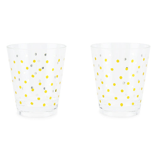 GOLD DOT ACRYLIC CUP SET