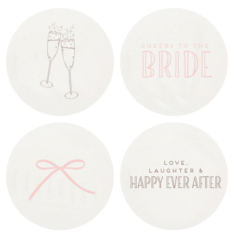 LETTERPRESSED BRIDE COASTERS
