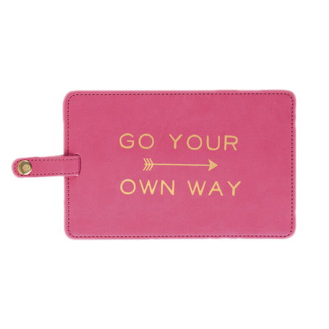 GO YOUR OWN WAY JUMBO LUGGAGE TAG