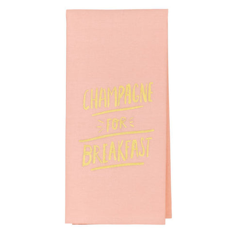 CHAMPAGNE FOR BREAKFAST TEA TOWEL