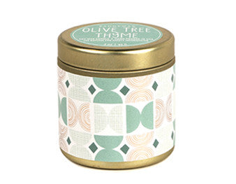 OLIVE TREE + THYME TIN CANDLE