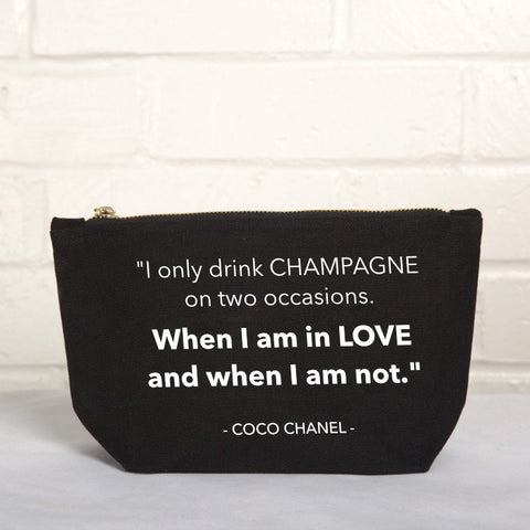 LOVE AND CHAMPAGNE POUCH