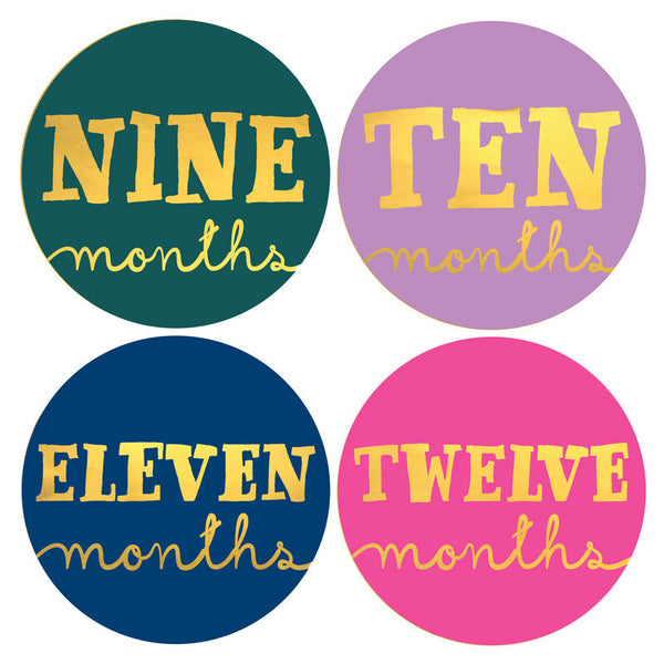 LITTLE JEWEL MONTHLY BABY STICKERS
